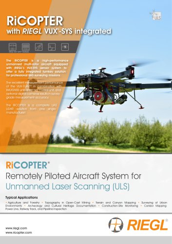 RiCOPTER with VUX-SYS