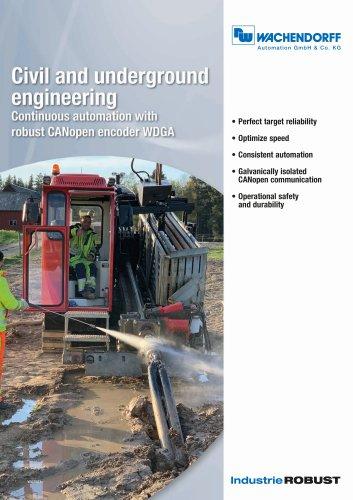Civil and underground engineering