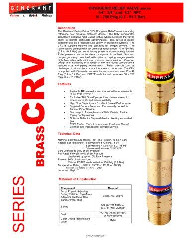 Cryogenic Relief Valve Brass (CRV)