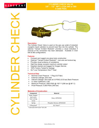 Cylinder Check Valve