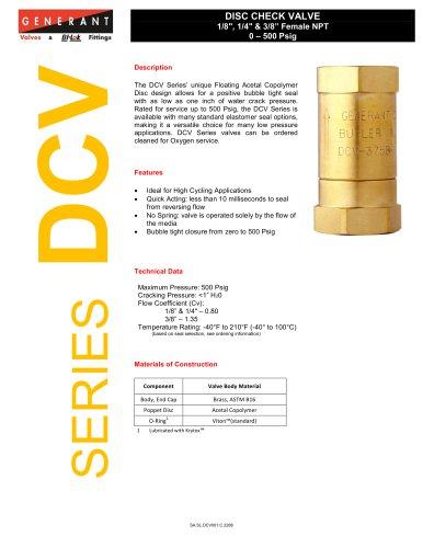 Disc Check Valve (DCV)