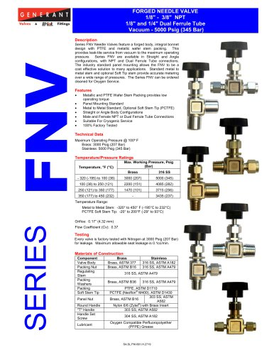 Forged Needle Valve (FNV)