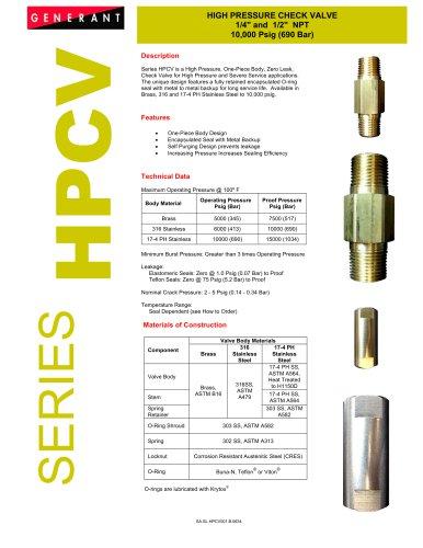 High Pressure Check Valve (HPCV)