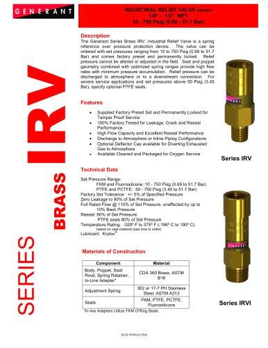 Industrial Relief Valve - Brass (IRV)