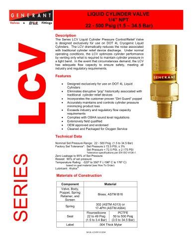 Liquid Cylinder Valve (LCV)