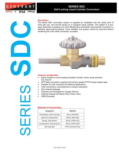 Self-Locking Cylinder Connector (SDC)