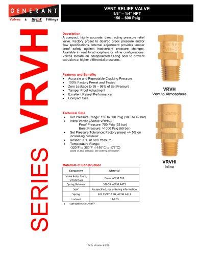Vent Relief Valve High Pressure (VRVH)