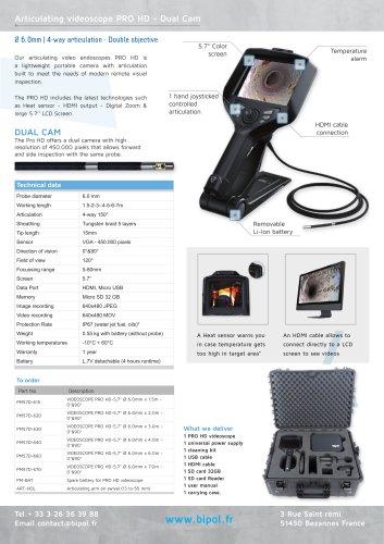 Articulating videoscope PRO HD - Dual Cam