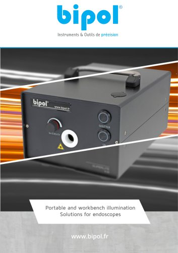 Portable and workbench illumination Solutions for endoscopes