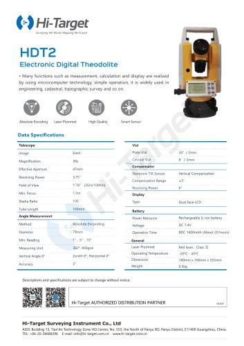 Hi-Target/Electronic Digital Theodolite/HDT2
