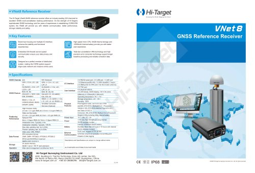 Hi-Target/GNSS CORS System/VNet Series