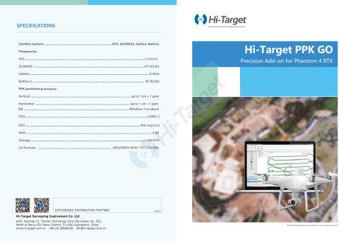 Hi-Target/PPK Go Software for Phantom 4 RTK