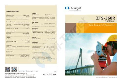 Hi-Target/Refletorless Total Station/ZTS-360R