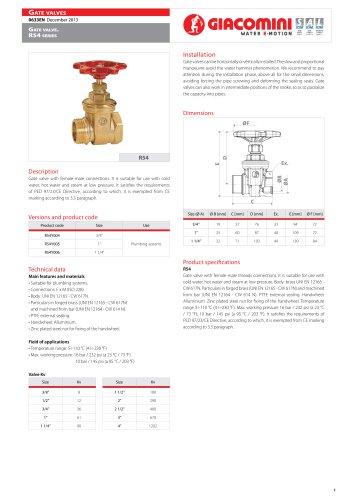 Gate valve . R54  series