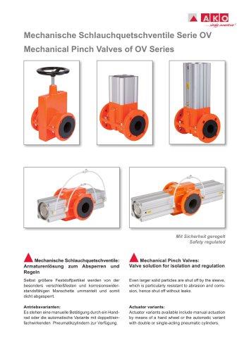 Mechanische Schlauchquetschventile Serie OV