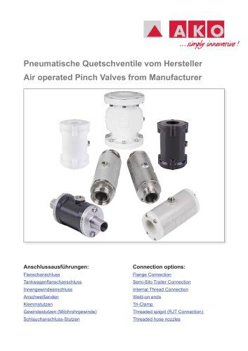 Pneumatische Quetschventile vom Hersteller