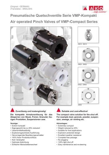 Pneumatisches Quetschventil mit Innengewindeanschluss - Typ VMP-Compact