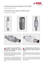 Schlauchanschluss-Stutzen Serie SAS