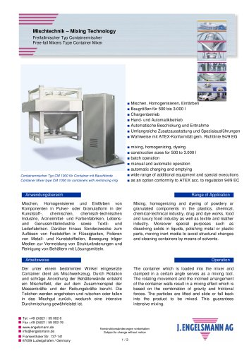 Broschüre Containermischer