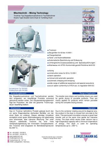 Broschüre Doppelkonustrockner & Taumeltrockner