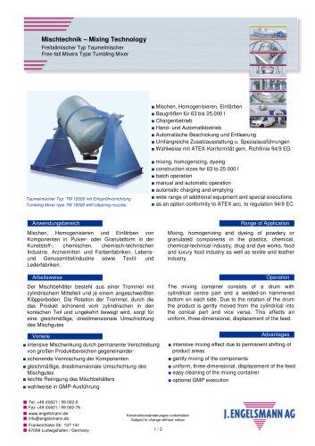 Broschüre Taumelmischer