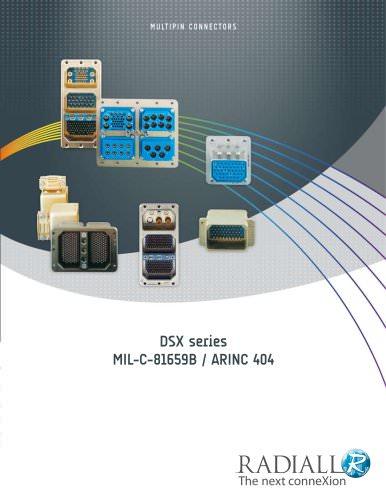 ARINC 404 / MIL-C-81659B DSX connectors