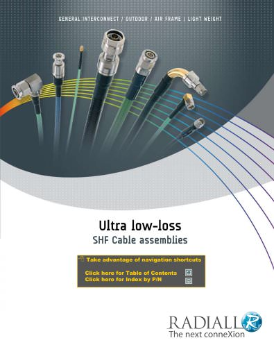Ultra-Low Loss SHF Cable Assemblies