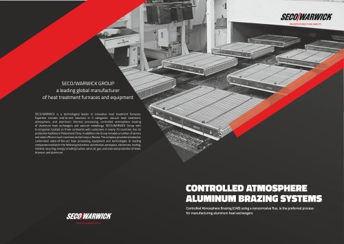 Controlled Atmosphere Aluminum Brazing Systems