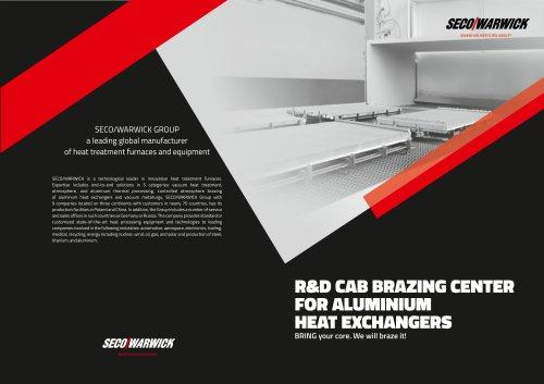 R&D CAB Brazing Center for Aluminum Heat Exchangers