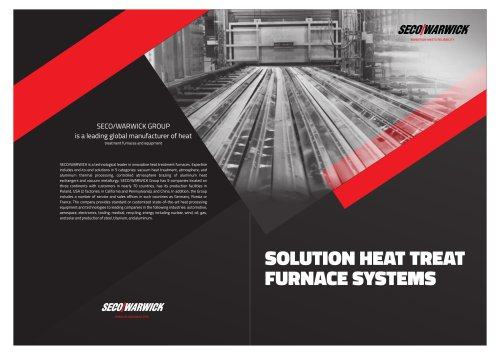 SOLUTION HEAT TREAT FURNACE SYSTEMS