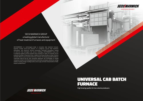 UNIVERSAL CAB BATCH FURNACE