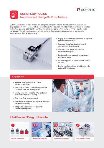 SONOFLOW CO.55 Flow Meter Biotech