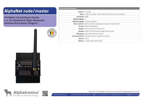 AlphaNet node/master