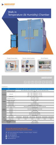 HUMIDITY AND TEMPERATURE TEST CHAMBER / CLIMATIC / WITH AIR CONDITIONING UNIT / STAINLESS STEEL SMC-2520-CC