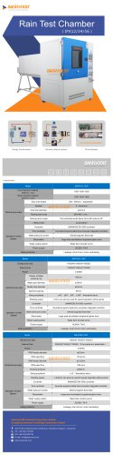 Rain test chamber IPX-1/2/3/4/5/6