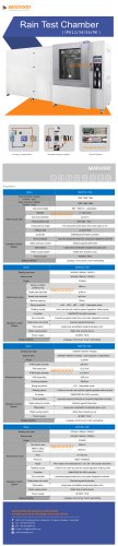 Rain test chamber SM-IPX-1000 series