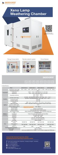 SOLAR SIMULATION TEST CHAMBER / WITH XENON ARC LAMP / WITH TEMPERATURE AND CLIMATIC CONTROL / UV SM-XD-1000-CA