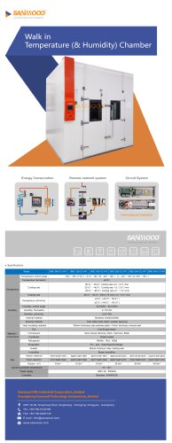 WALK-IN TEST CHAMBER / HUMIDITY AND TEMPERATURE / WITH WINDOW SMC-160-CC-WT