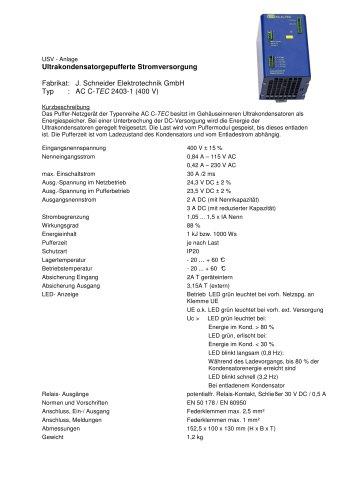 AC-C-TEC 2403-1-400V