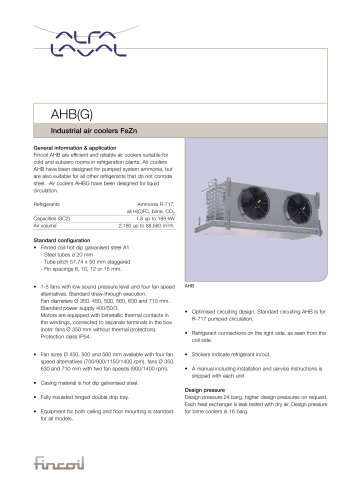 AHB(G) - Industrial air coolers FeZn