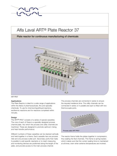 Alfa Laval ART® Plate reactor 37