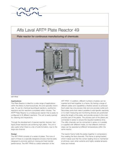 Alfa Laval ART® Plate Reactor 49