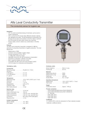 Alfa Laval Conductivity Transmitter