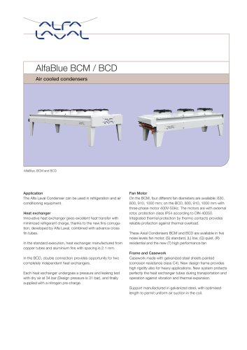 AlfaBlue - BCM BCD - Air cooled condensers