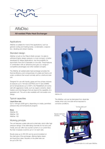 AlfaDisc - All-welded Plate Heat Exchanger