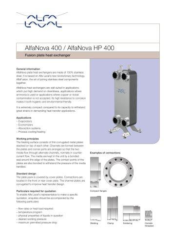 AlfaNova 400 / AlfaNova HP 400