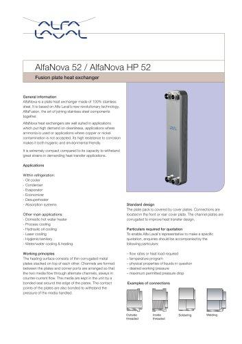 AlfaNova 52 / AlfaNova HP 52