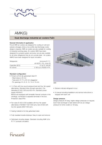 AMK(G) - Dual discharge industrial air coolers FeZn