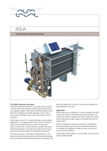 AQUA titanium-plate freshwater generator