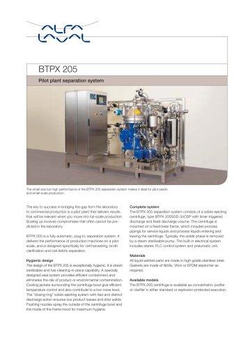 BTPX Separator - BTPX 205
